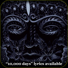 10,000 days lyrics!